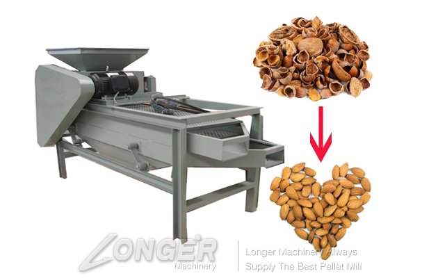 Almond Nuts Shell and Kernels Separating Machine