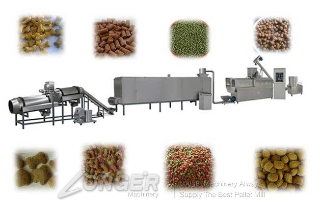 automatic pet food production line with low price china