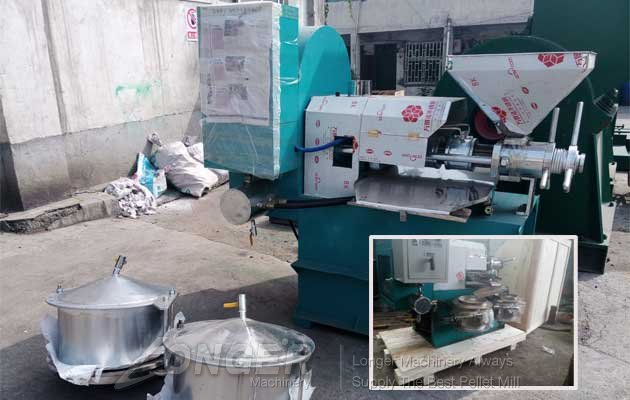 screw type hemp seeds press machine sold to india with low price