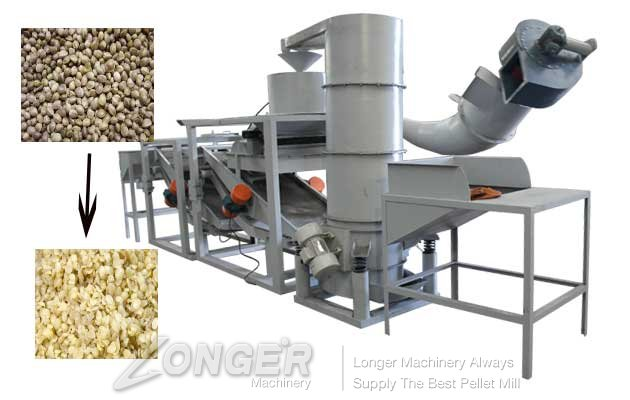 Automatic Hemp Seeds Shelling Machine|Hulling Machine