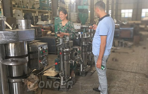 shou oil press machine to customer