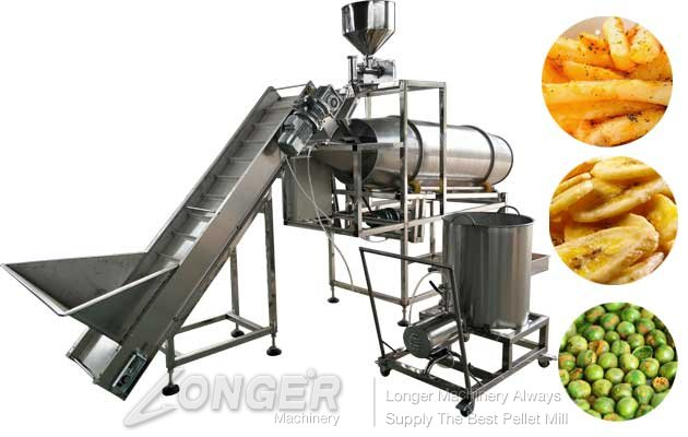 Snack Food Seasoning Machine With Guniting Function