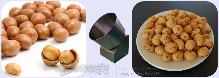 flour sugar peanut coating machine with best price
