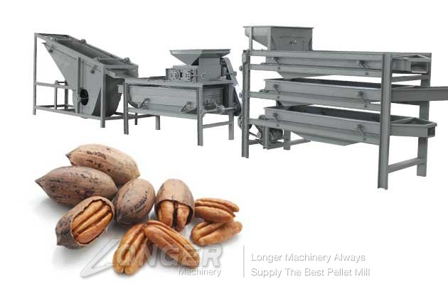 automatic pecans cracker and sheller machine