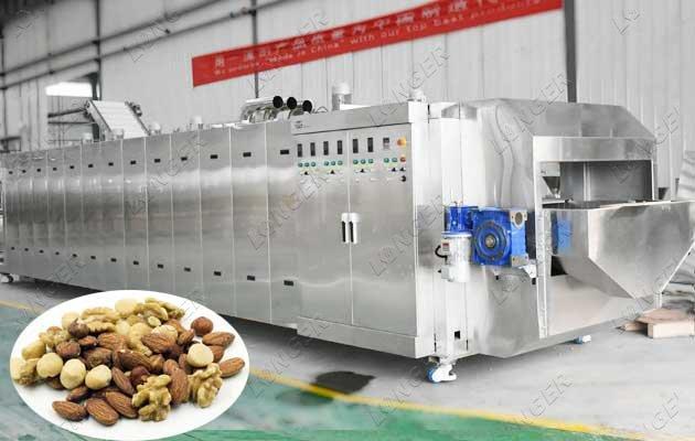 Continuous Nut Roasting Machine