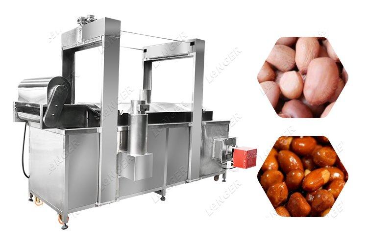 Industrial Peanut Fryer Groundnut Frying Machine