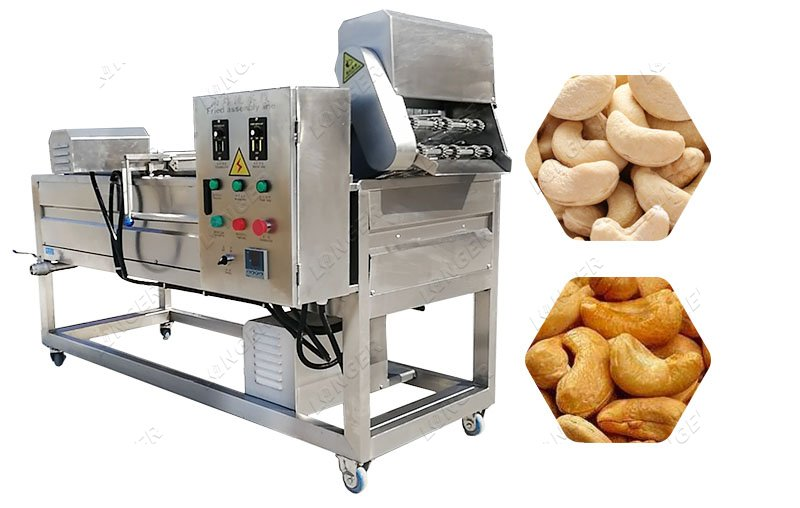 Automatic Cashew Nut Frying Machine For Green Peas Chickpea