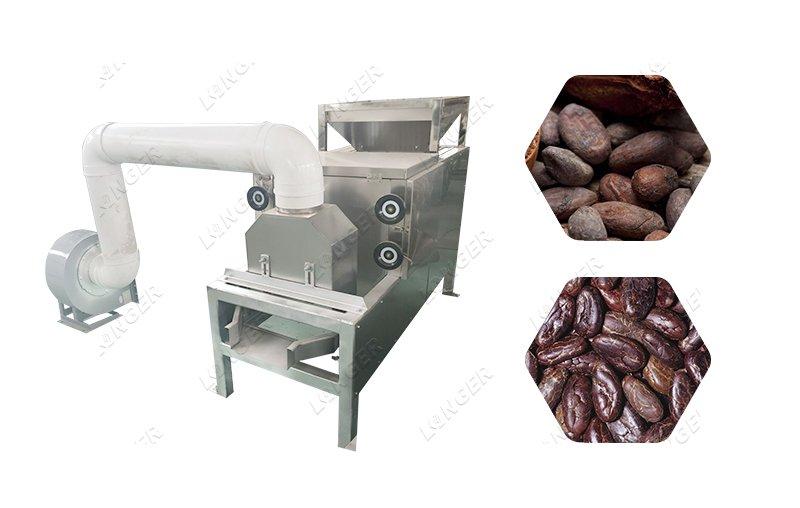 Automatic Cocoa Bean Peeling Machine Cocoa Bean Winnowing Machine
