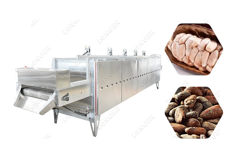 Commercial Cocoa Bean Roaster Process Equipment
