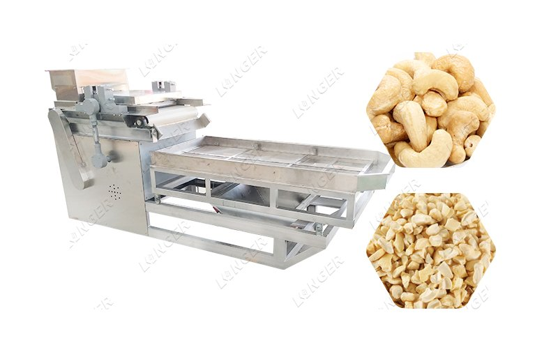Fully Automatic Cashew Nut Cutting Machine Cashew Nut Chopper Crushing Machine