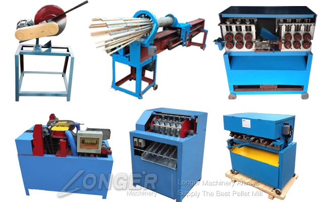Bamboo Wood BBQ Stick Machine Complete Make Line