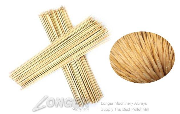 Bamboo Wood BBQ Stick Machine Complete Make Line