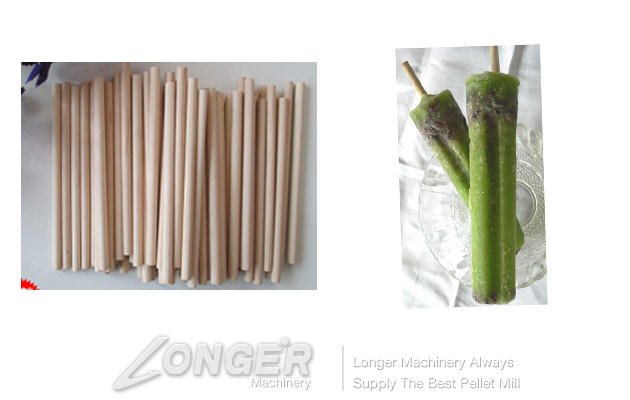 Wooden Round Ice Cream Stick Product Line