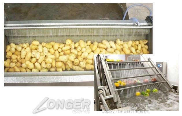 potato washing line