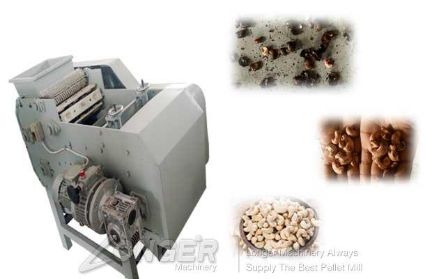Cashew nut hulling machine
