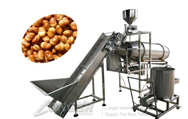 automatic snack food seasoning machine with guning machine
