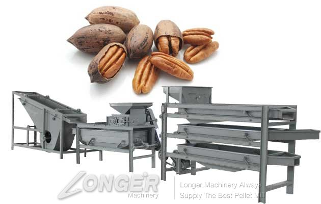 commercial pecan cracking and shelling machine
