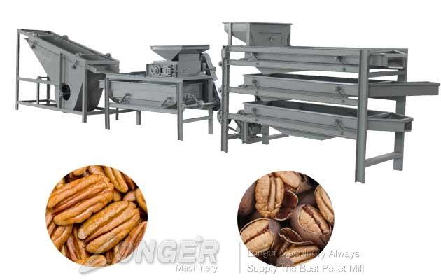pecans cracker and sheller machine