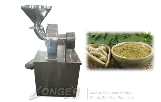 dried leaves grinding machine