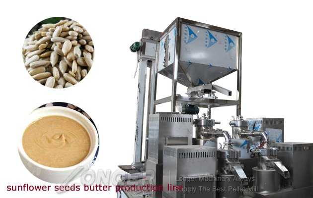 automatic sunflower seeds butter production line factory price