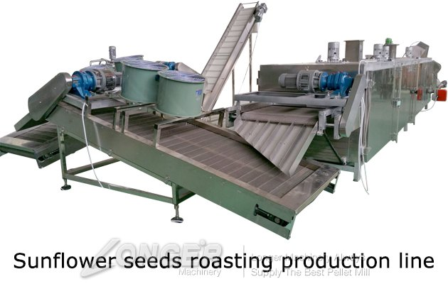 sunflower seeds roasting production line price