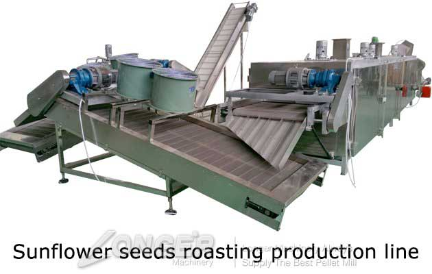 Continuous Sunflower Seeds Roas ting Processing Machine Line