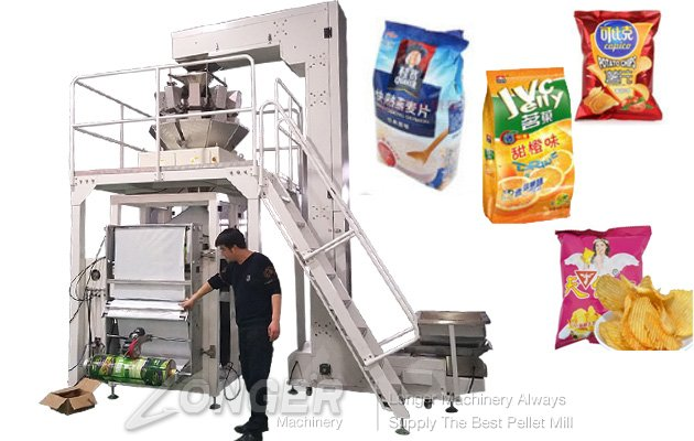 Automatic Potato Chips Weighing and Packing Machine