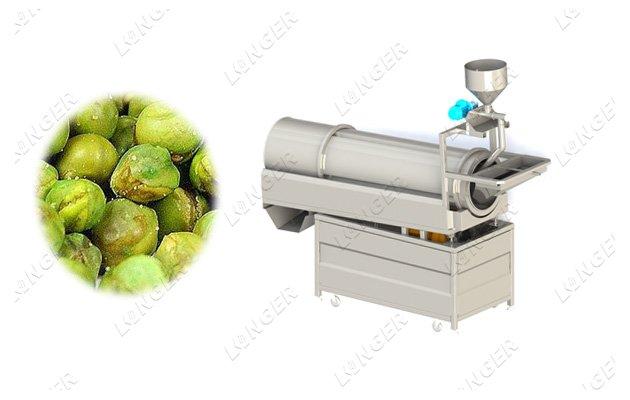 automatic snack food seasoning machine with guning machine