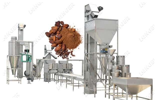 cocoa processing machinery