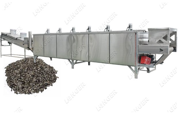 Continuous Sunflower Seeds Roasting Processing Machine Line