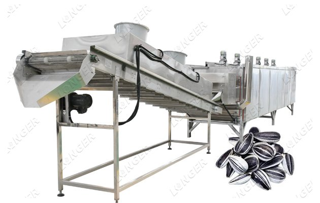 continuous sunflower seeds roasting machine
