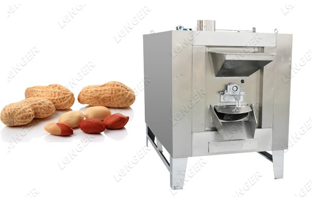 machine for roasting peanuts