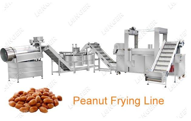 frying peanut machine